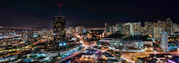 Photograph - Honolulu Night Panorama by Dan McManus