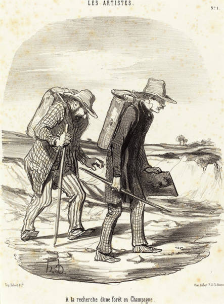 Wall Art - Drawing - Honoré Daumier French, 1808 - 1879, A La Recherche Dune by Quint Lox