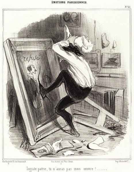 Wall Art - Drawing - Honoré Daumier French, 1808 - 1879, Ingrate Patrie by Quint Lox