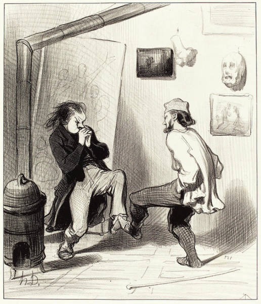 Wall Art - Drawing - Honoré Daumier French, 1808 - 1879, Quand On A Brulé Son by Quint Lox