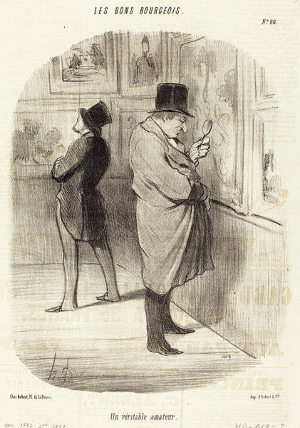 Wall Art - Drawing - Honoré Daumier French, 1808 - 1879, Un Veritable Amateur by Quint Lox