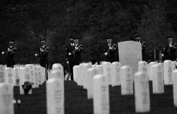 Famous Cemeteries Photograph - Honors For A Fallen Comrade  by Mountain Dreams