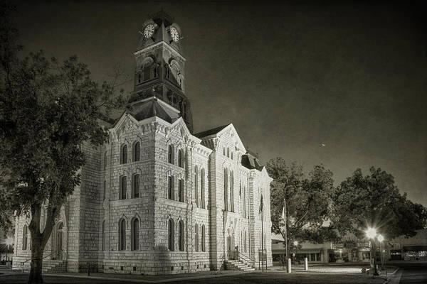 Photograph - Hood County Courthouse by Joan Carroll