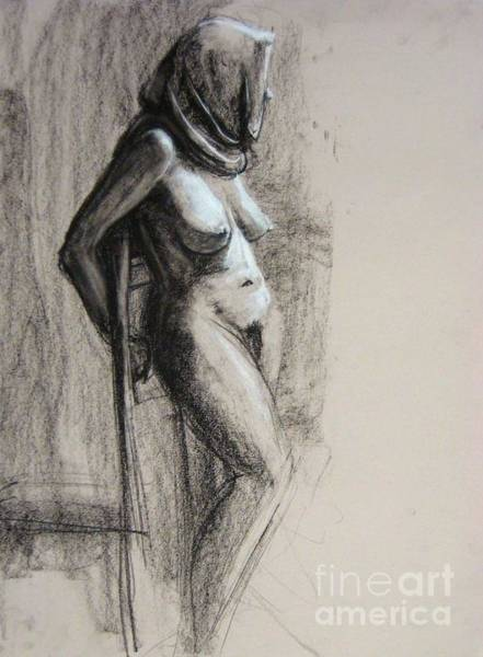 Art Print featuring the drawing Hood by Gabrielle Wilson-Sealy