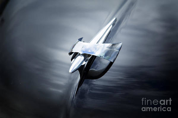 Photograph - Hood Ornament 1949 Mercury Classic Car In Color 3195.02 by M K Miller