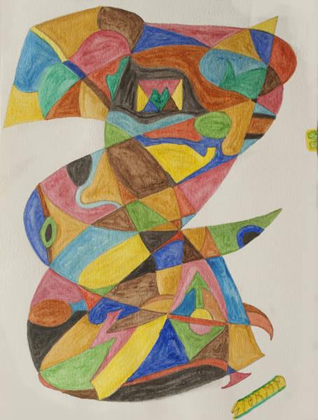 Nigeria Painting - Hoodoo Man by Stormm Bradshaw