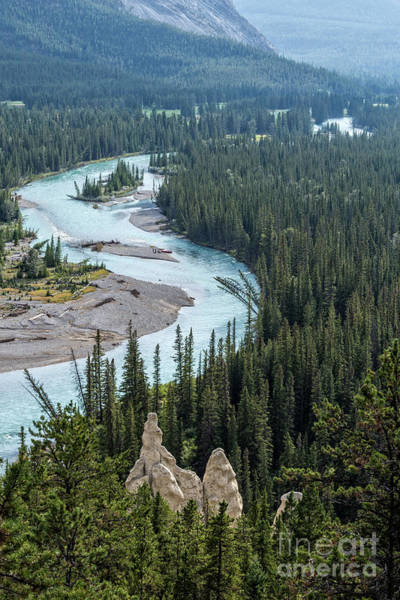 Canmore Wall Art - Photograph - Hoodoos Along The Bow River Banff by Edward Fielding