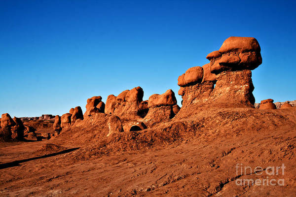 Goblin Valley State Park Photograph - Hoodoos Row by Robert Bales