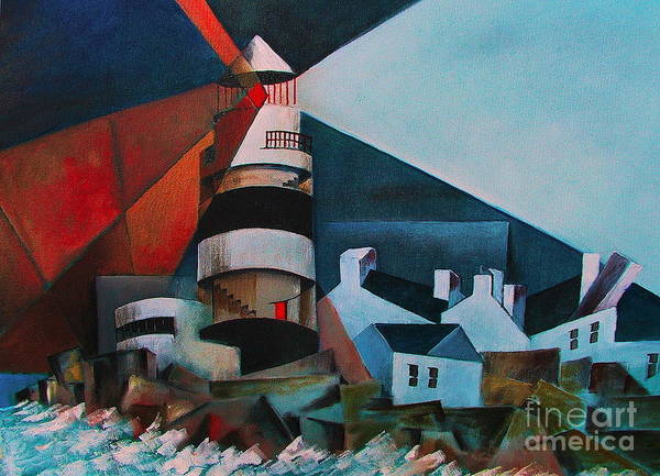 Painting - Hook Head Lighthouse  Wexford by Val Byrne