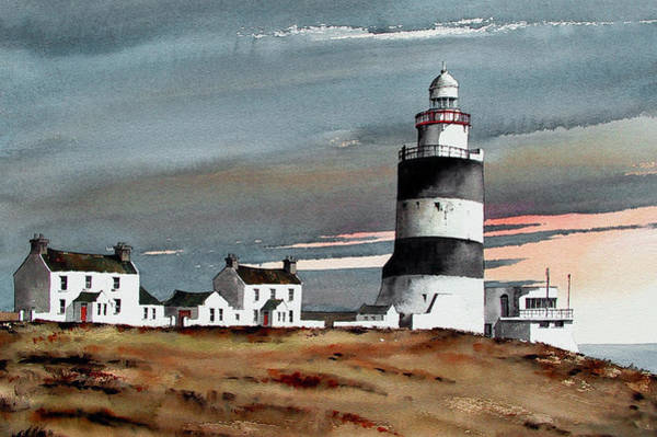 Painting - Hook Lighthouse Wexford by Val Byrne