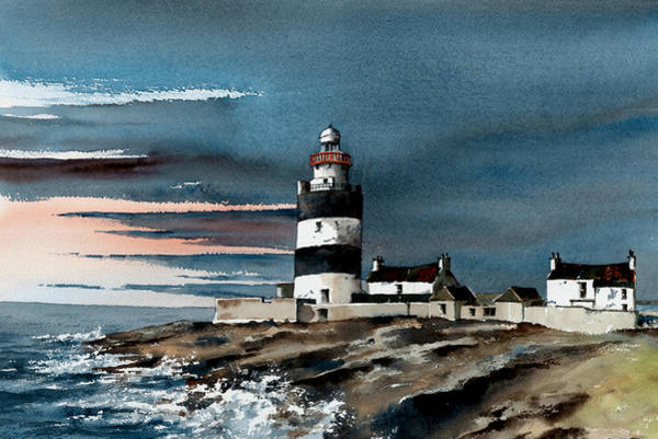 Painting - Hook Sunset Wexford by Val Byrne