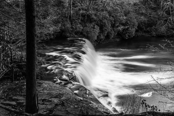 Photograph - Hooker Falls Monochrome by Randy Scherkenbach