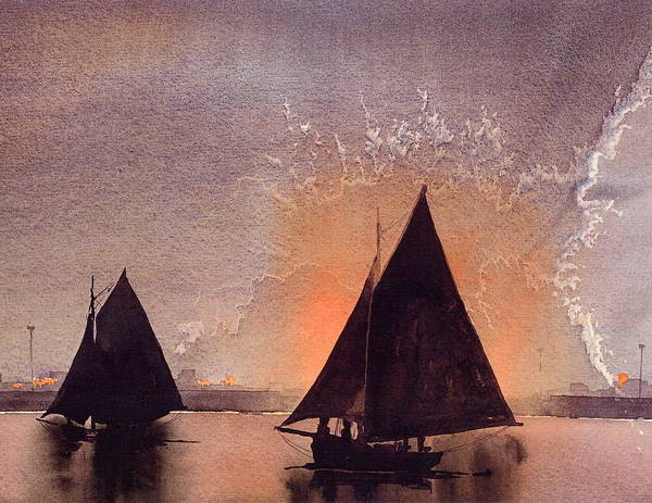 Painting - Hookers Returning Home by Val Byrne