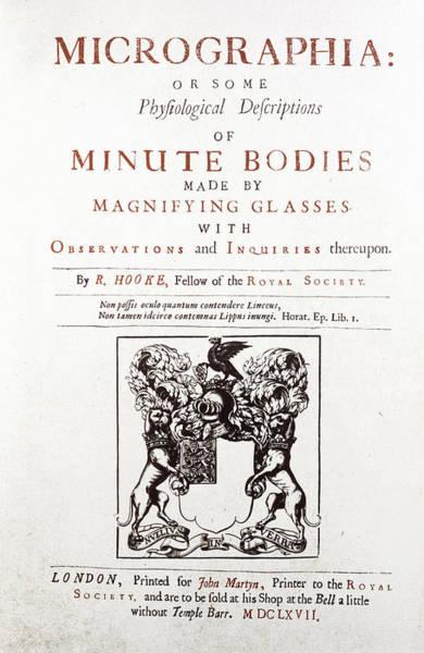 1665 Wall Art - Photograph - Hooke's Micrographia by Adam Hart-davis/science Photo Library