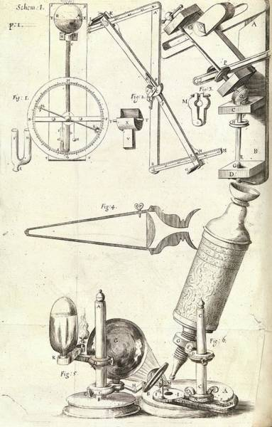 1665 Wall Art - Photograph - Hooke's Microscope And Equipment by Royal Institution Of Great Britain