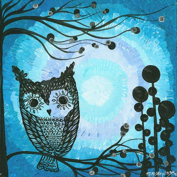 Burrowing Owl Painting - Hoolandia Contrasts 02 by MiMi  Stirn