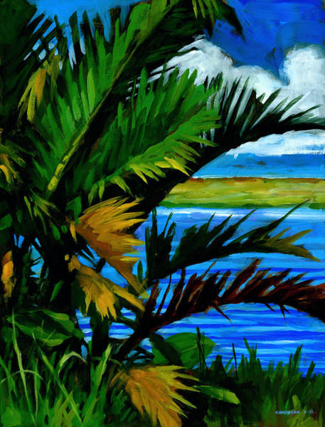 Tropical Plants Painting - Hoomaluhia 1 by Douglas Simonson