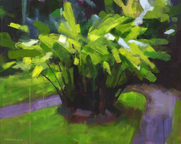 Tropical Plants Painting - Hoomaluhia Path by Douglas Simonson