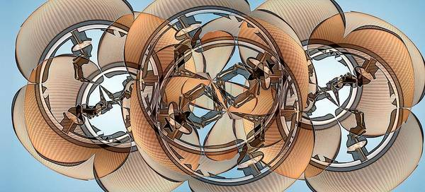 Manipulated Digital Art - Hoop Flaps by Ron Bissett