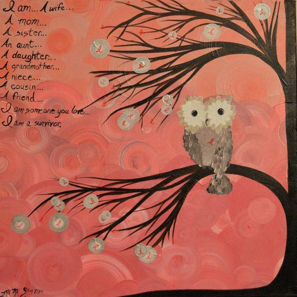 Hoo's Who Care - Find The Cure - Support Breast Cancer Awareness - Hoolandia #383 Art Print