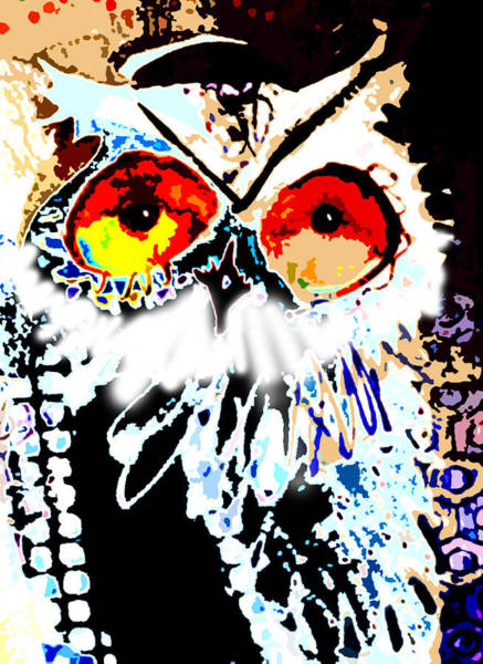 Painting - Hoot Digitized by Laurel Bahe