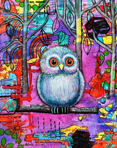 Mojo Painting - Hoot Of The Forest by Astrid Rosemergy
