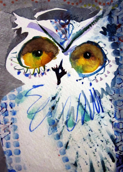 Painting - Hoot Uncropped by Laurel Bahe