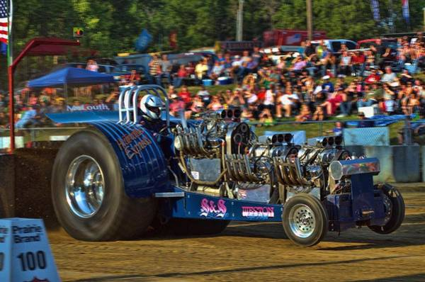 Photograph - Hooterville Express Pulling Tractor by Tim McCullough