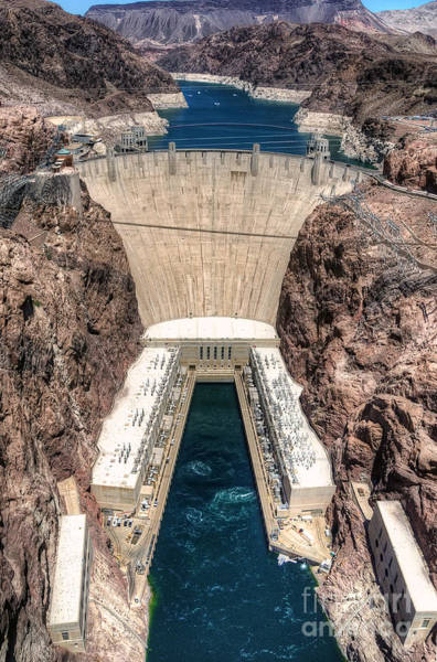 Photograph - Hoover Dam From Above by Eddie Yerkish