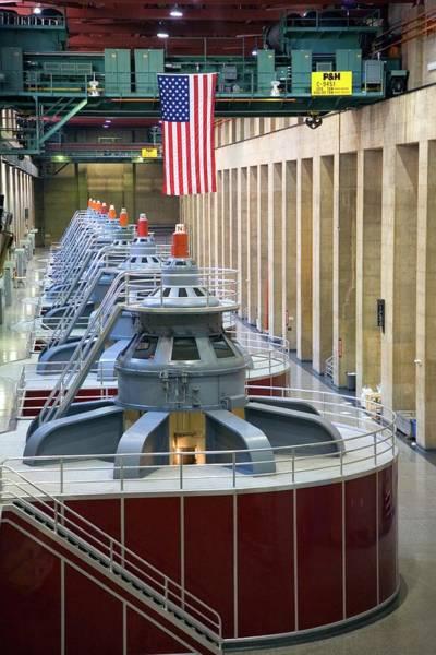 Wall Art - Photograph - Hoover Dam Turbine Hall by Jim West