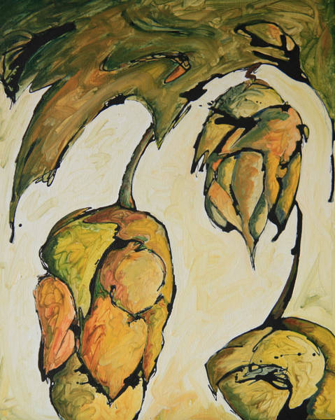 Bier Painting - Hop Harvest by Alexandra Ortiz de Fargher