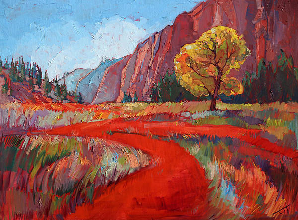 Zion Painting - Hop Valley by Erin Hanson