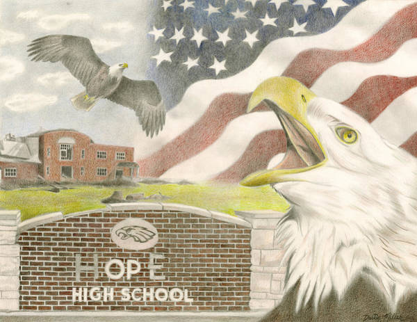 Drawing - Hope High School by Dustin Miller