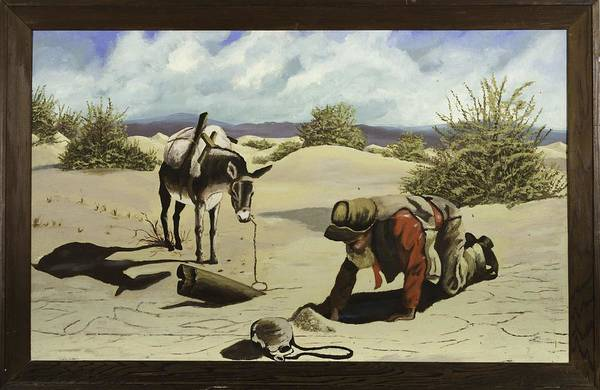 Death Valley Painting - Hope In The Desert by Unsigned