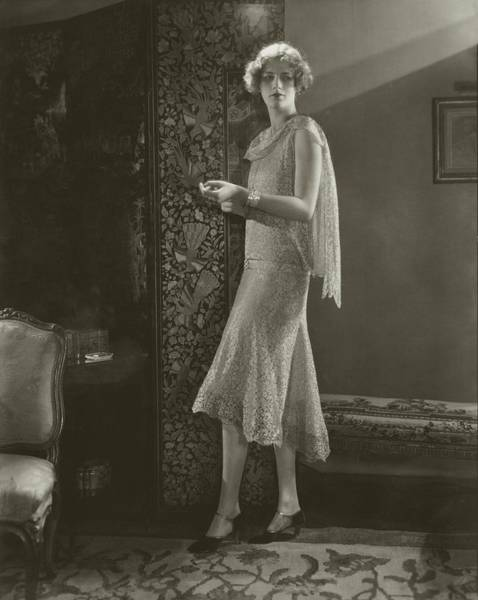 Livermore Wall Art - Photograph - Hope Livermore Wearing A Chanel Dress by Edward Steichen