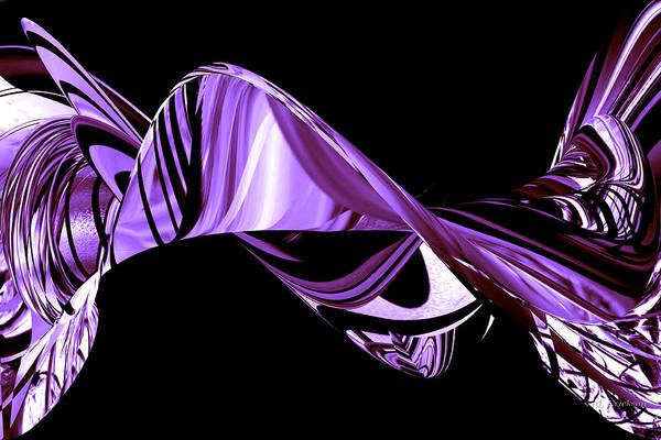 Digital Art - Hope Springs Eternal In Twists And Turns Of Purple by rd Erickson