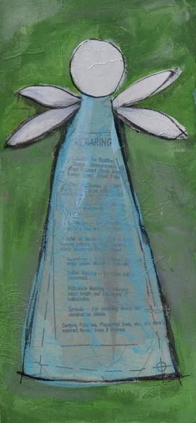 Green Winged Teal Mixed Media - Hope V by Ann Krier