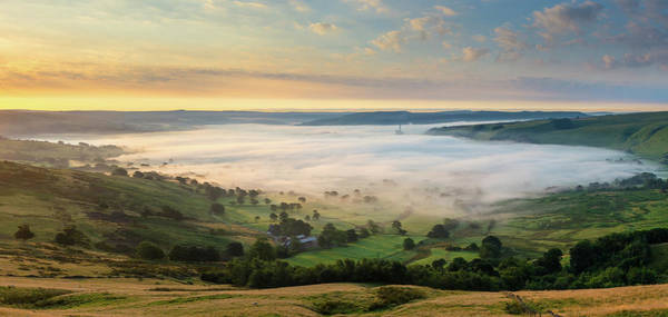 Peak District National Park Photograph - Hope Valley From Mam Tor, Peak District by Chris Hepburn