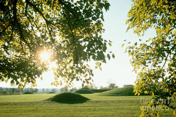 Indian Burial Ground Photograph - Hopewell Burial Mounds by Van D. Bucher
