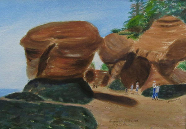 Painting - Hopewell Rocks Nb by Linda Feinberg