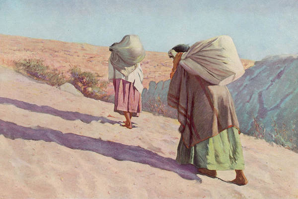 Wall Art - Drawing - Hopi Women From Tewa Village by Mary Evans Picture Library