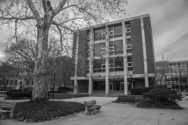 Ohio State University Photograph - Hopkins Hall Osu Black And White  by John McGraw