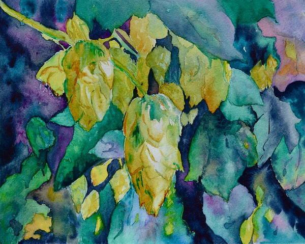 Ingredient Painting - Hops by Beverley Harper Tinsley