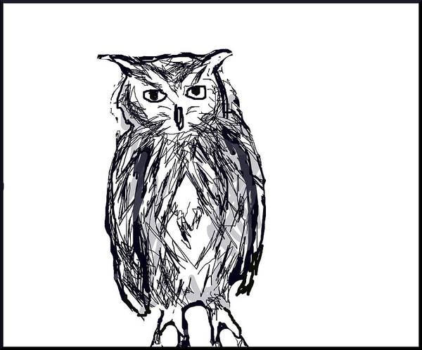 Digital Art - Horace The Owl by Paul Sutcliffe