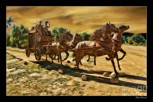 Photograph - Hores And Wagon by Blake Richards