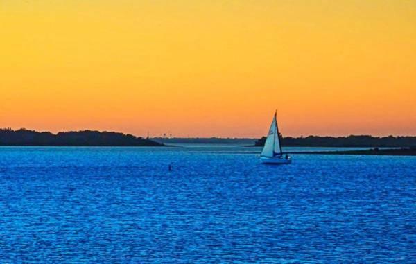 Lake Sunset Photograph - Horizon  by Dado Molina