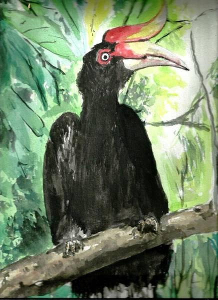 Hornbill Painting - Hornbill by Ali Mohamad