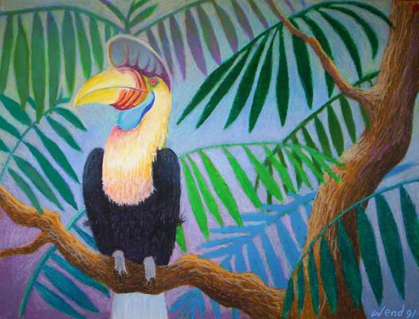 Hornbill Painting - Hornbill Portrait by Daniel Wend