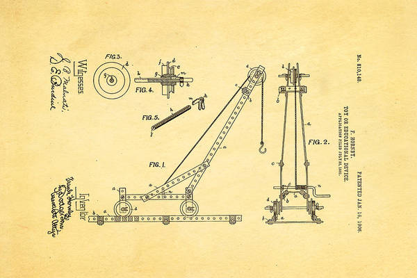 Monk Photograph - Hornby Meccano Patent Art 1906 by Ian Monk
