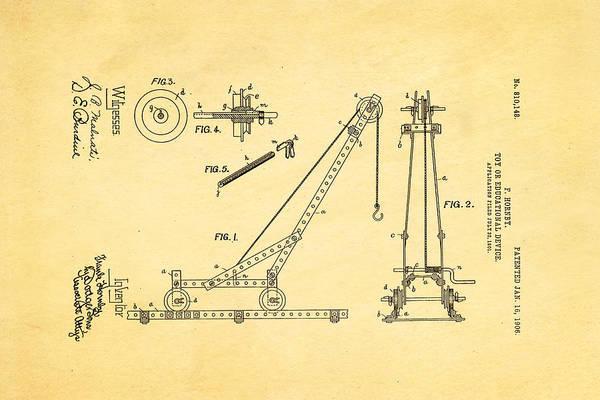 Wall Art - Photograph - Hornby Meccano Patent Art 1906 by Ian Monk
